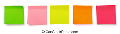 Sticky notes - Panoramic shot of color blank sticky notes...