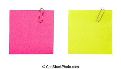 Sticky Notes - Sticky notes on a white background