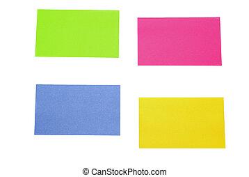 sticky notes - color sticky notes over white