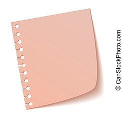 Sticky notes - The pink sticky note