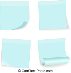 Sticky notes. Vector illustration set. eps 10