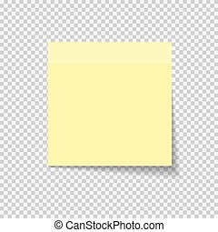 Sticky Paper Note on Transparent Background Vector ...