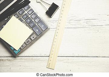 sticky paper on calculator