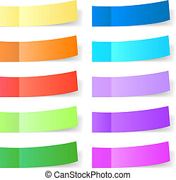 Sticky paper set - Set of different sticky papers for you.