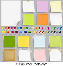 Sticky Papers 2 - 15 Sticky Papers With Adhesive Tapes, ...