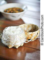 sticky rice in the basket