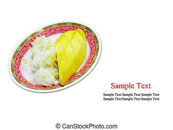 Sticky Rice Mango Thai Dessert