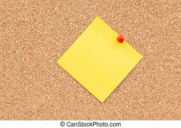 Sticky yellow blank note with space for text.