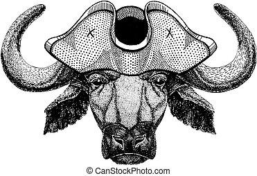 stier, buffel, os