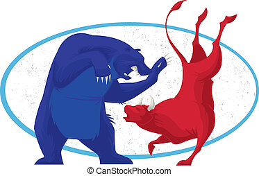 stier en beer, -, beursmarkt