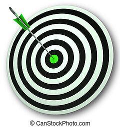 stiers oog, doel, optredens, perfect, nauwkeurigheid, en,...