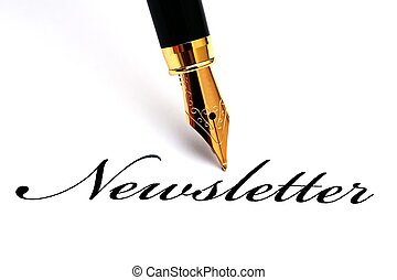 stift, newsletter, brunnen