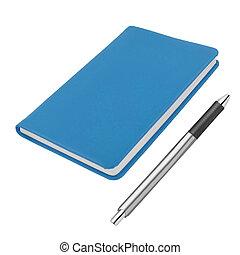 Stift, Notizbuch, Freigestellt