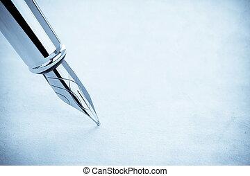 stift, pergament, tinte