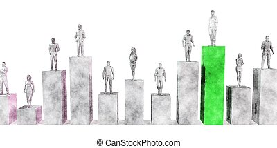 stige, korporativ, klatre