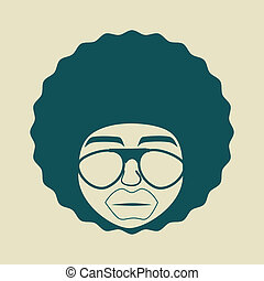 stijl, afro, ontwerp