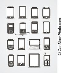 stijl, beweeglijk, ouderwetse , abstract, moderne, gadgets