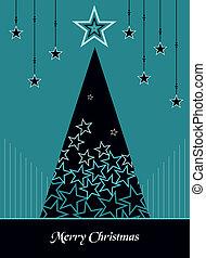 stijl, boompje, kerstmis, achtergrond, winter