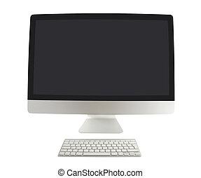 stijl, computer, met, toetsenbord