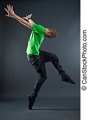stijl, danser, het poseren, heup-hop