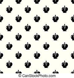 stijl, eenvoudig, romaans, black , pictogram, kaarsje