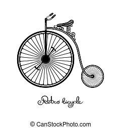 stijl, fiets, retro