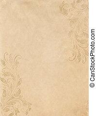 stijl, grunge, ouderwetse , victoriaans, papier, achtergrond, oud