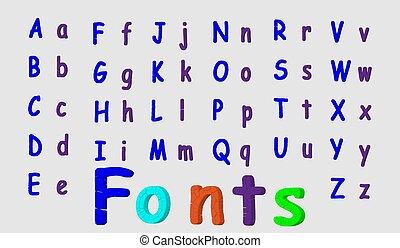 stijl, illustration., cracked., het is, color., kapot, vector, gemakkelijk, lettertype, of, veranderen, 3d