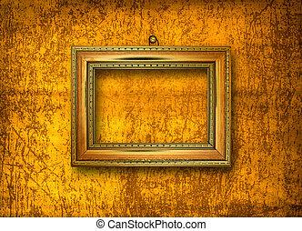 stijl, interieur, barok, frame, grunge