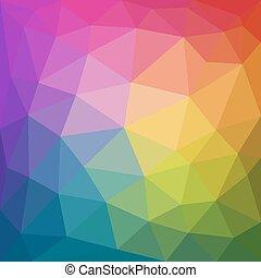 stijl, kleurrijke, abstract, driehoekig, poly, laag, achtergrond, geometrisch