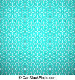 stijl, pattern., abstract, blauwgroen, seamless, geometrisch...