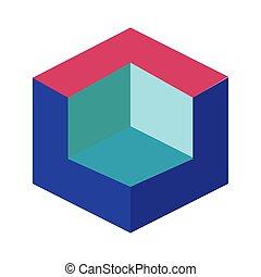 stijl, pictogram, ontwerper, figuur, plat, 3d