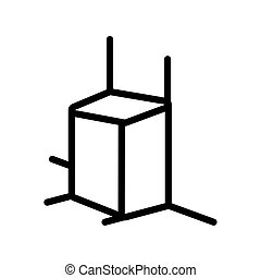 stijl, pictogram, ontwerper, lijn, figuur, 3d