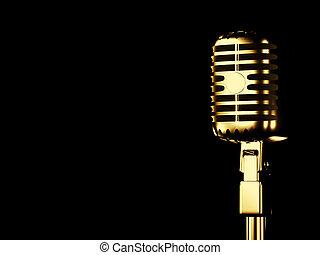 stijl, retro, microfoon