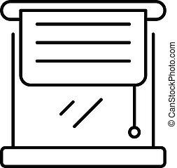 stijl, schets, dekking, papier, pictogram, louvers