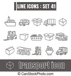 stijl, set, iconen, meetkunde, recht, moderne, lijnen, bochten, vector, black , vervoeren, achtergrond, ontwerp, lijn, witte , communie