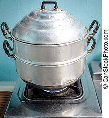 stijl, steaming, thai, pot