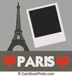 stijl, steek, eiffel, frankrijk, achtergrond, toren, paris.,...