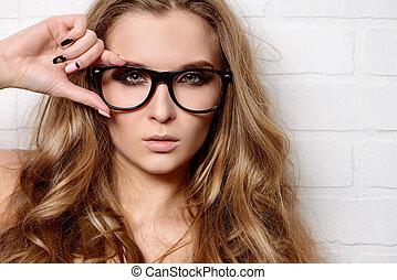stijl, van, bril