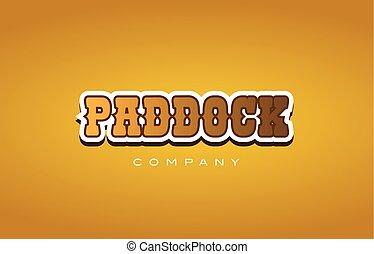 stijl, woord, tekst, bedrijf, ontwerp, westelijk, logo, paddock, pictogram