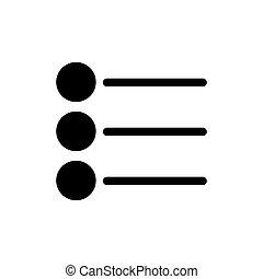 stijl, zakelijk, controlelijst, set., vector, pictogram
