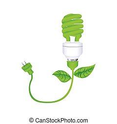stik, silhuet, blade, spiral, mørke, lampe, grønne, fluorescerende