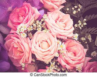 stil, Årgång, verkan, filtrera,  retro, Blomstrar