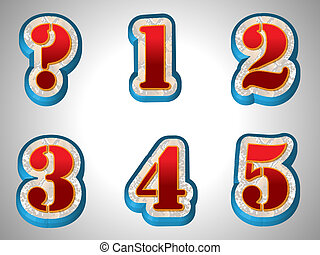 stil, alphabet, groß, schriftart, rotes , 3d