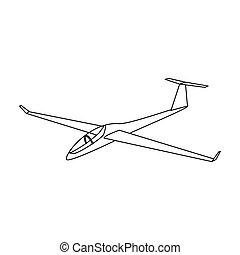 stil, bestand, motorflugzeug, symbol, orange, bitmap, ...