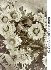 stil, Blomstrar,  retro, bakgrund