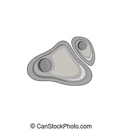 stil, cell, svart, monokrom, ikon, nucleus