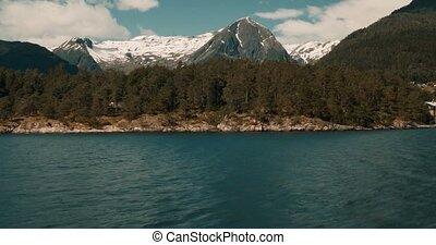 Stil,  -,  cinematic,  boattrip, Küsten,  Fjord, norwegen