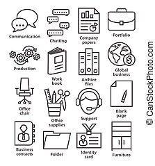 stil, fodra, kontor, affärsverksamhet ikon