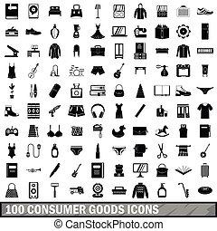 stil, güter, heiligenbilder, satz, einfache , 100, ...